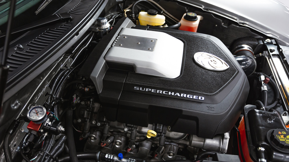 The engine in a 2015 Panoz Esperante Spyder GT.
