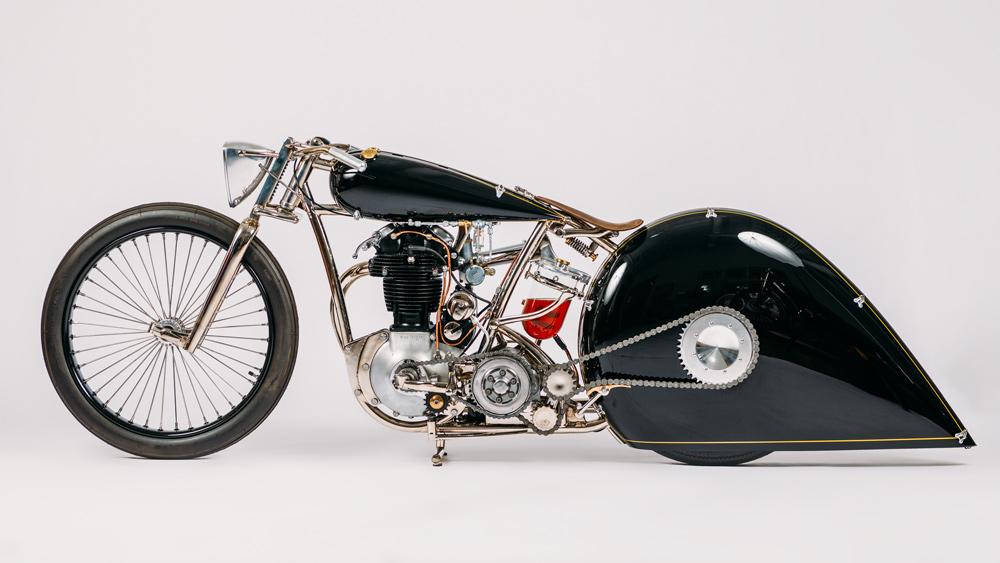 The 2016 Black Knight motorcycle by custom bike-builder Max Hazan.