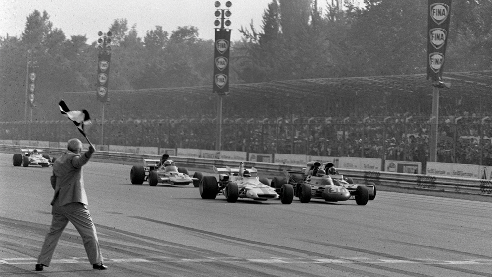 In 1971, the Italian Grand Prix featured Formula 1's closest finish, a difference of .01 seconds.