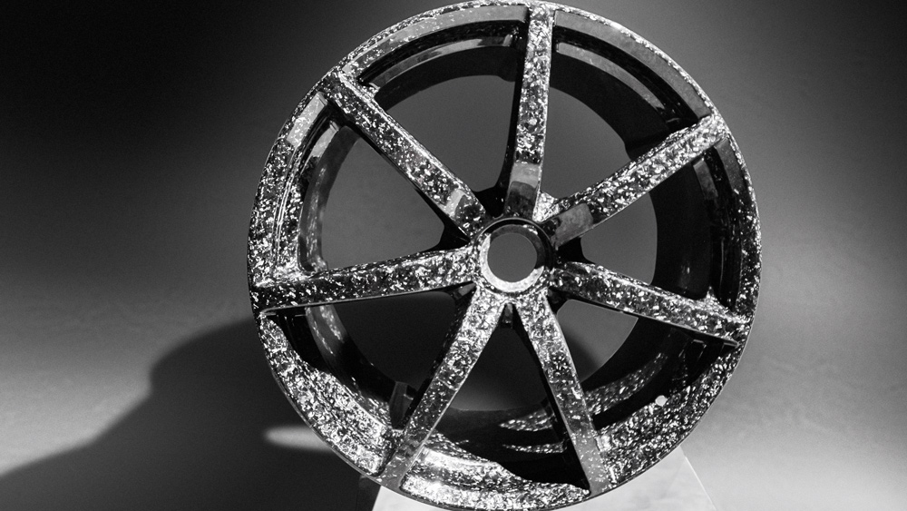 Each Zenvo carbon-fiber wheel features 550 hand-layered pieces and takes a craftsman two weeks to create.