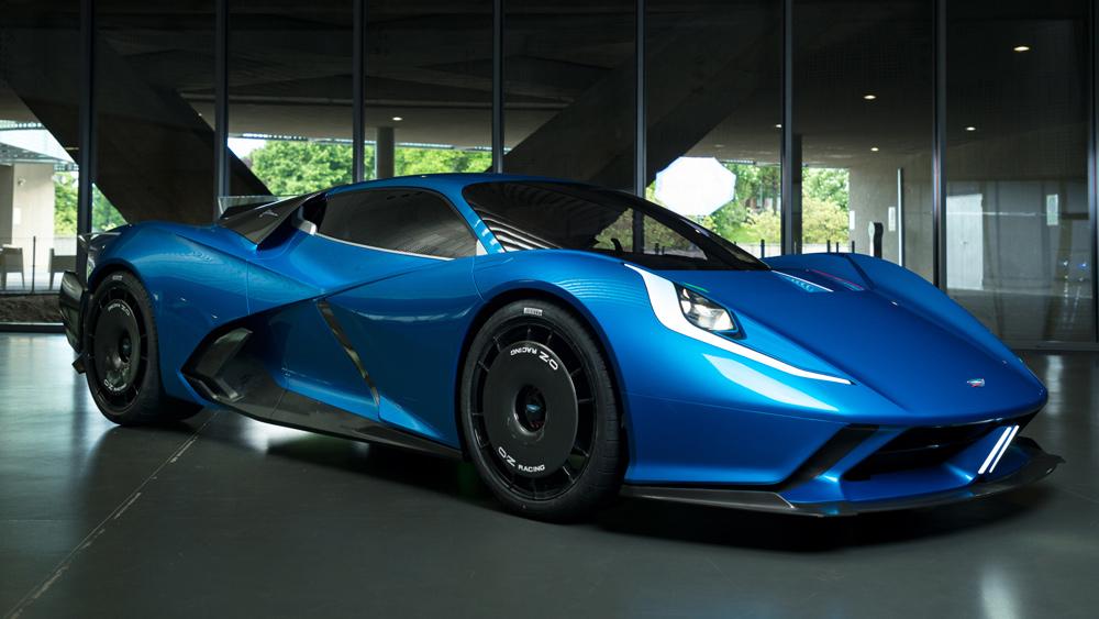 The all-electric Estrema Fulminea hypercar prototype.