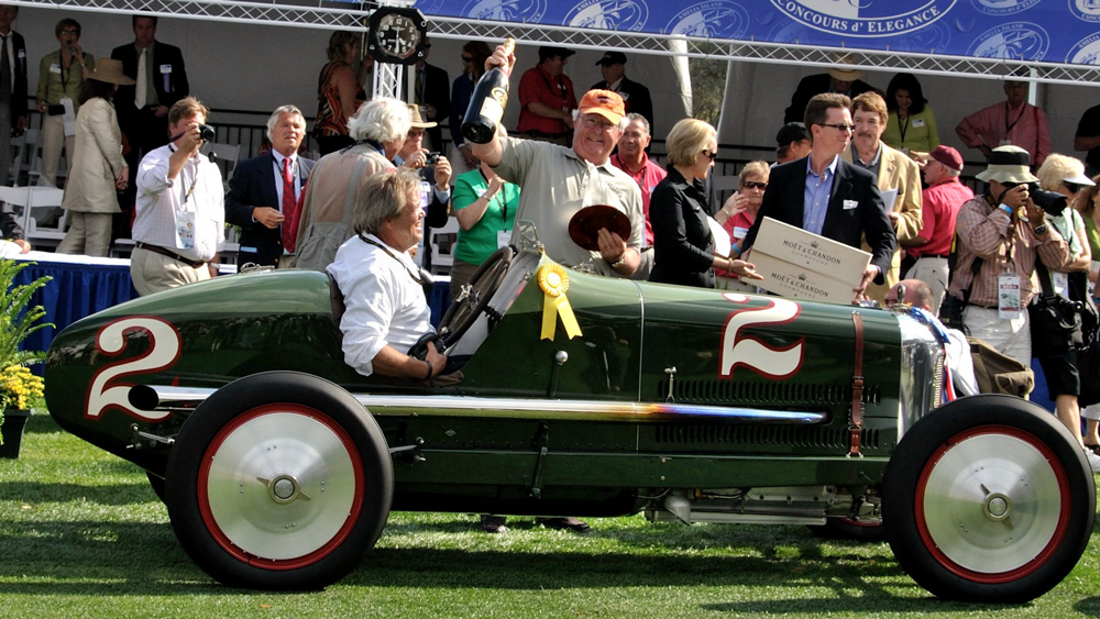 The 1922 Miller 122 Junior 8 Special that won Best of Show at the Amelia Island Concours d'Elegance in 2009.