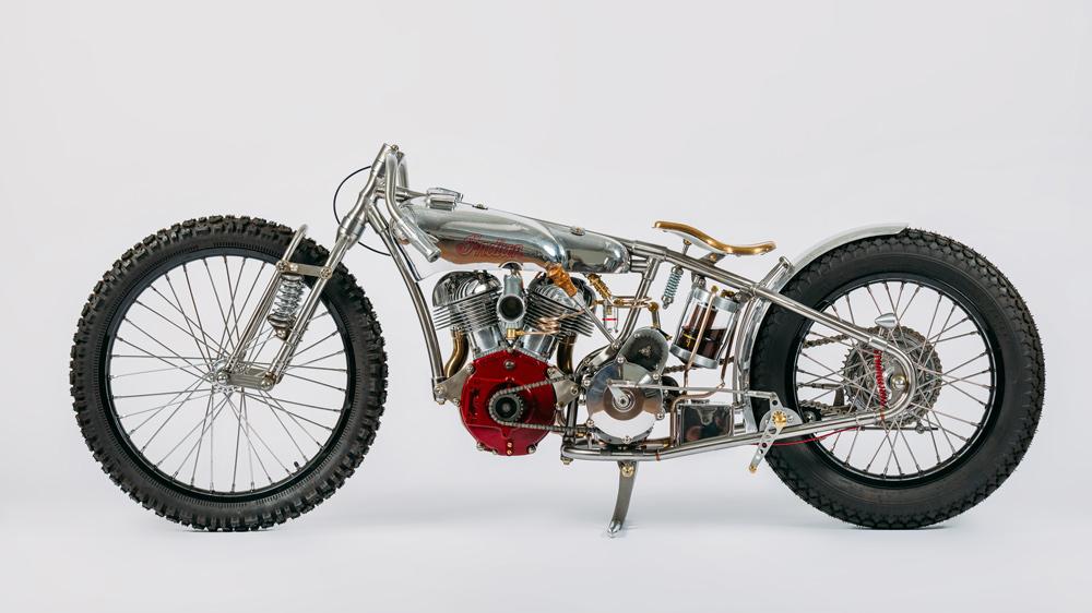 The 2017 Flying Squirrel motorcycle by custom bike-builder Jon MacDowell.