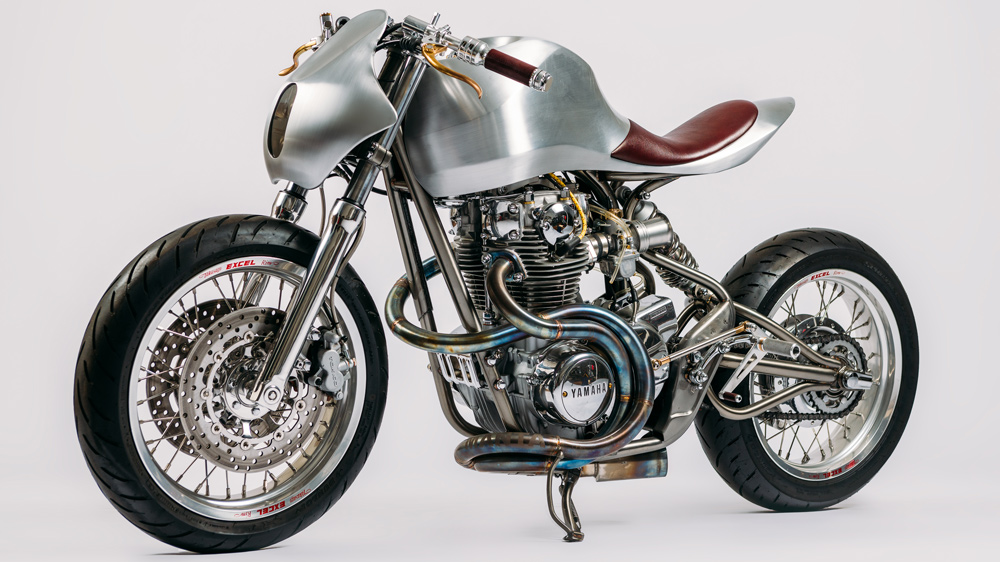 The 2018 Manta motorcycle by custom bike-builder Jay Donovan.