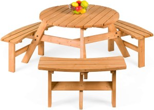 Best Choice Outdoor Wooden Picnic Table