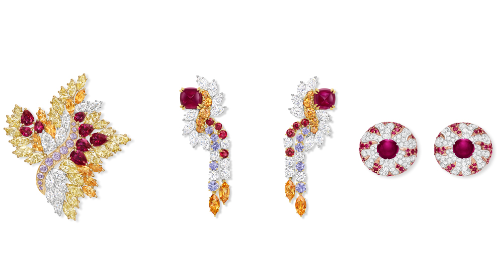 Harry Winston Flame Collection Hair Accessory and Earrings