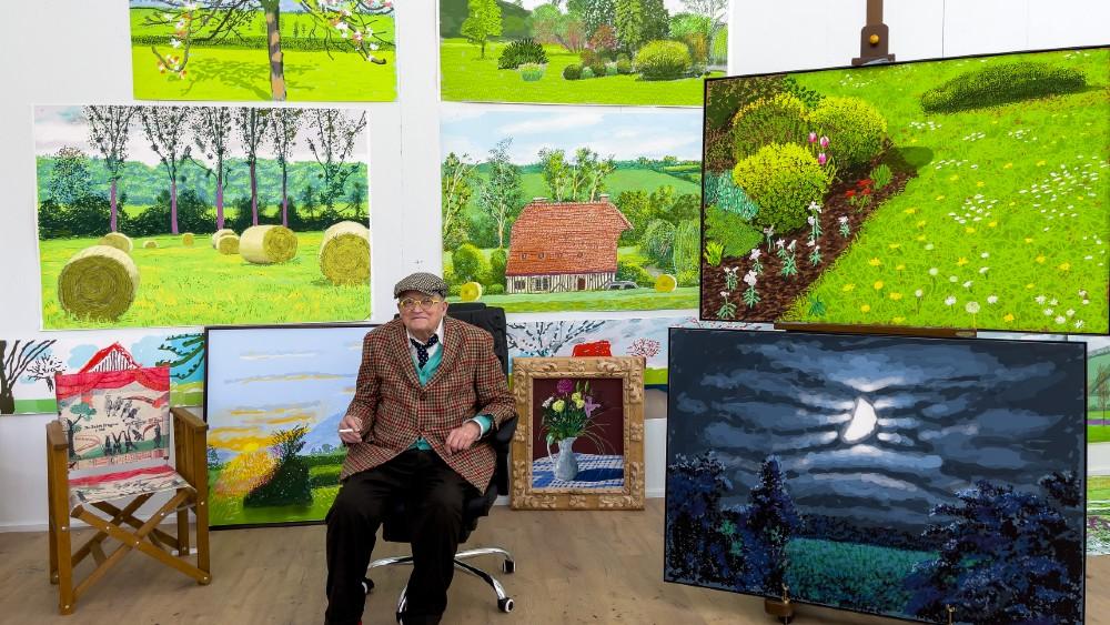 David Hockney studio France