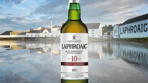 Laphroaig 10 Year Old Sherry Oak Finish Single Malt Scotch