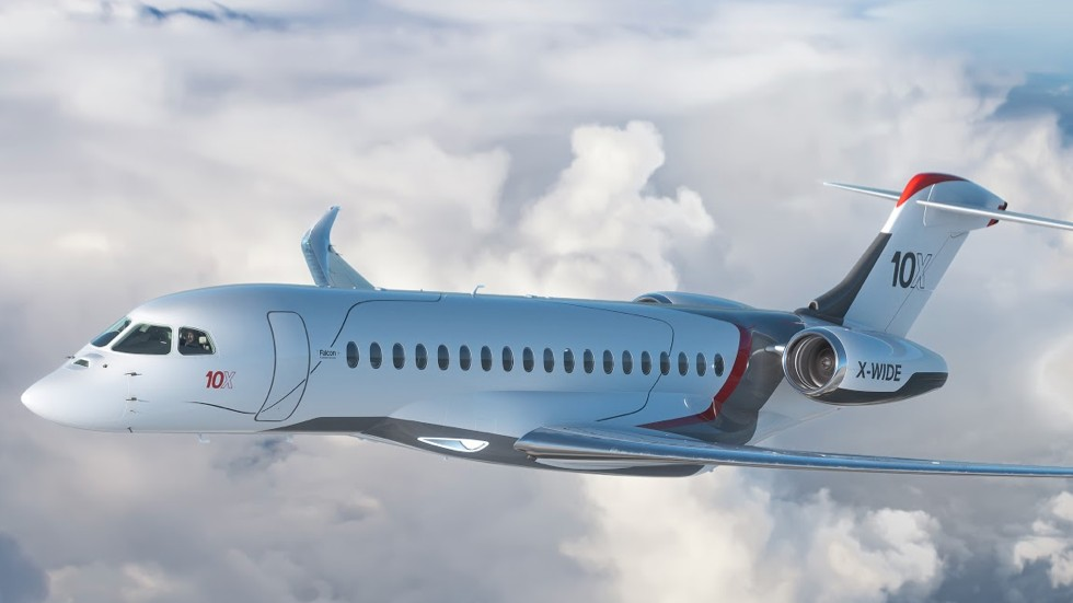 Dassault's new Falcon 10X is the French aerospace company's new flagship and claims to be larger than its competitors' largest business jets