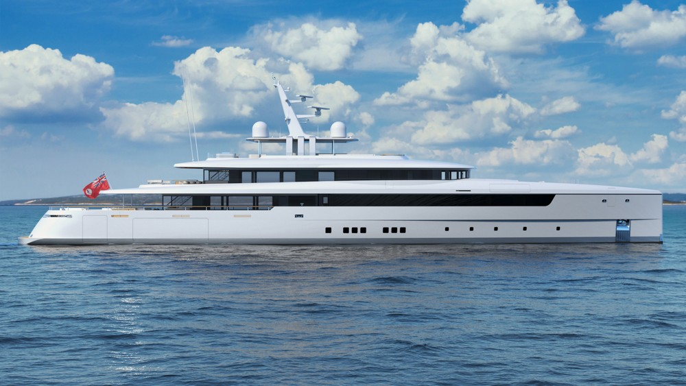 217 foot Vitruvius yacht for a new owner who had used charter yachts as a template
