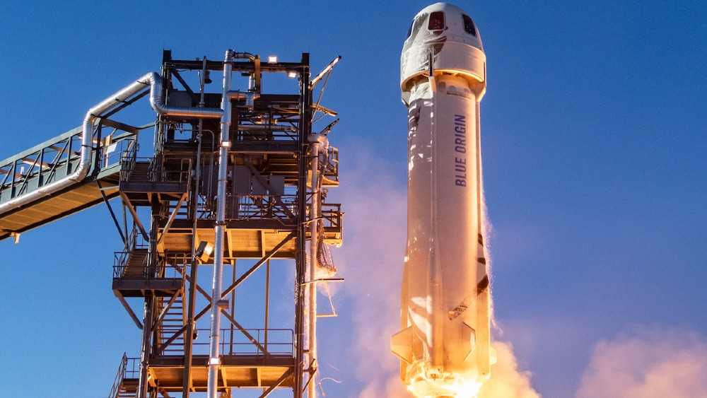 jeff Bezos's Blue Origin has a public auction to buy the last seat on its first space tourism flight on July 20.