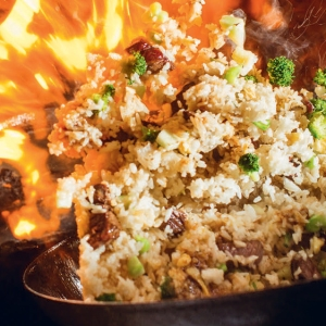 steak fried rice wok