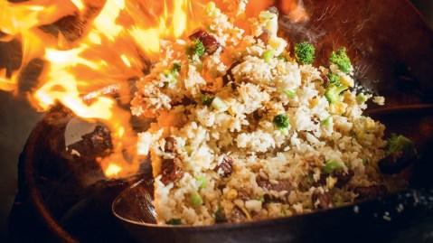 steak fried rice wok