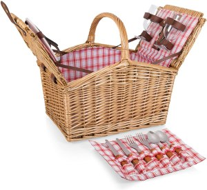Picnic Time Piccadilly Willow Picnic Basket