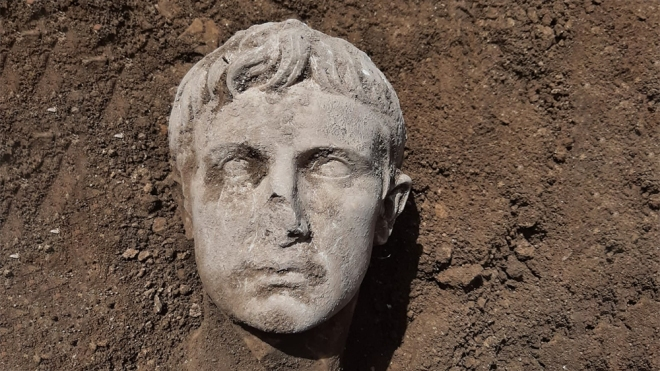 Marble Head of Augustus