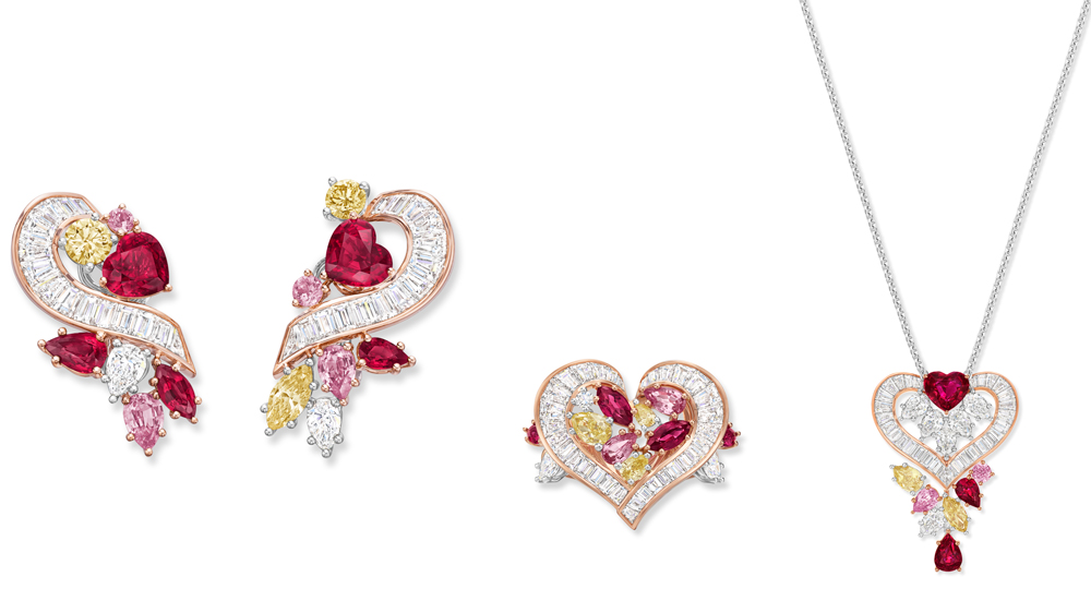 Winston Love Collection Promise Earrings, Ring and Necklace
