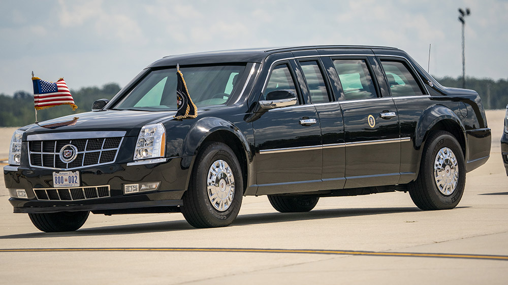 """The presidential limo, also known as the """"Beast"""""""