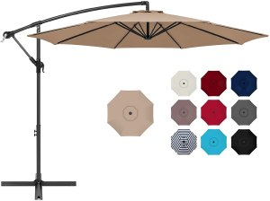 Best Choice Products Offset Hanging Market Patio Umbrella