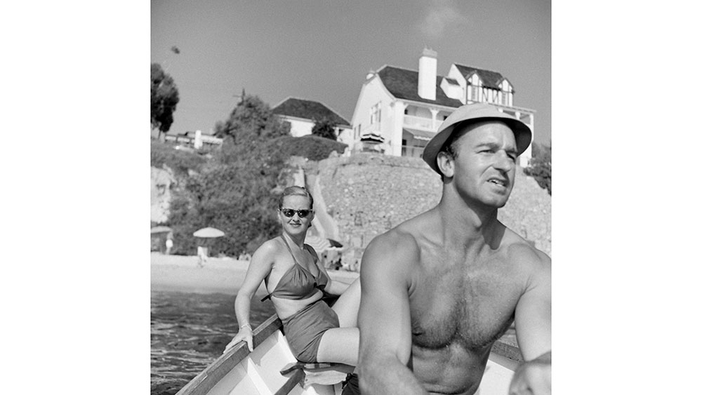 Bette Davis and her third husband, William Grant Sherry, boating near their home in Laguna Beach, California, 1947. (Photo by Loomis Dean/The LIFE Picture Collection via Getty Images)