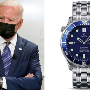 President Joe Biden and the Omega Seamaster 300M