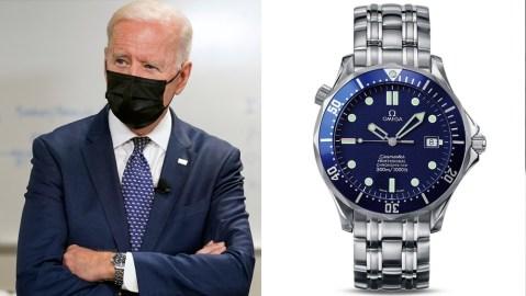 President Joe Biden and the Omega Seamaster 300M