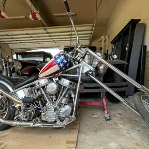 1952 Harley-Davidson Captain America Crash Bike Motorcycle