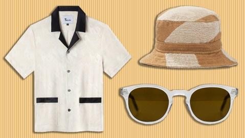 Tombolo cabana shirt, Oas bucket hat, Lowercase sunglasses