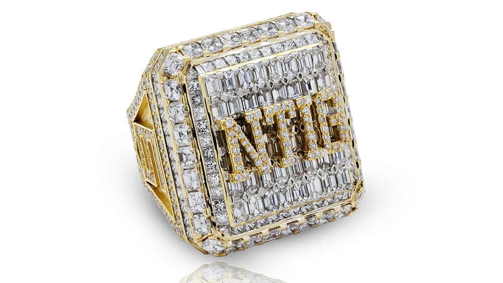Drake's SBL rec basketball league championship ring