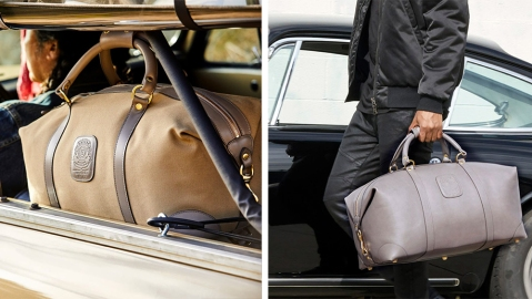 Two sizes of Ghurka's duffel bags, the Cavalier I and Cavalier II.