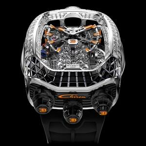Jacob & Co. Bugatti Chiron Tourbillon Baguette Black and Orange