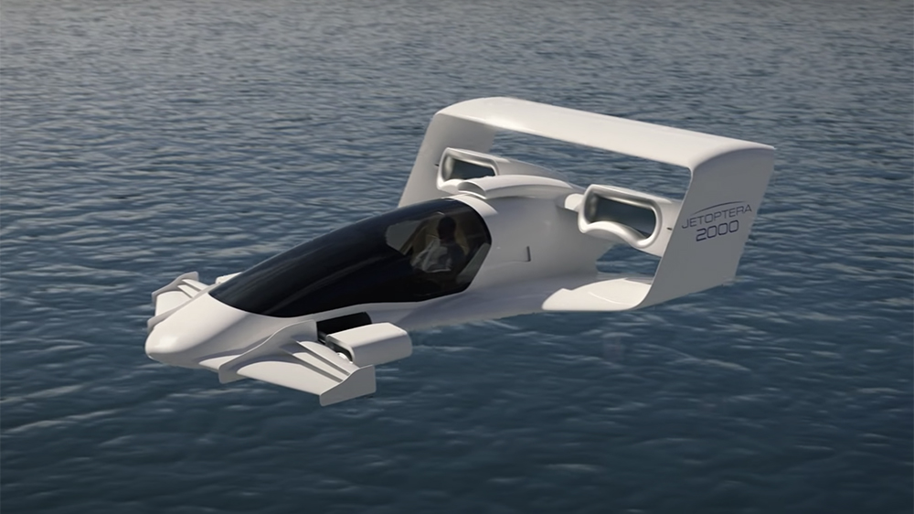 The Jetoptera J-2000 flying car concept