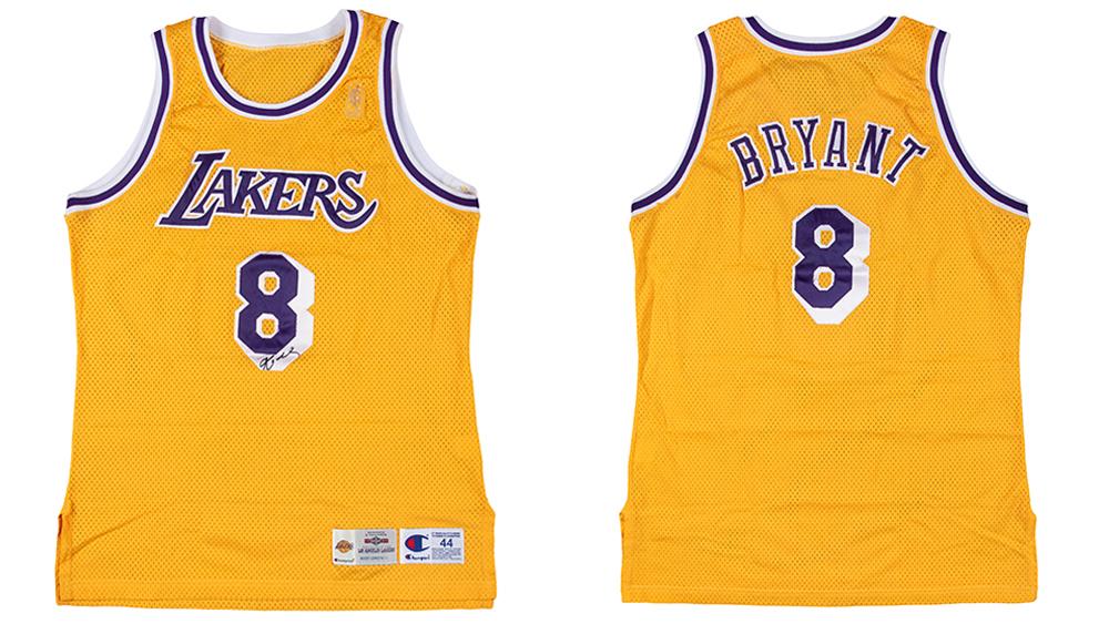Kobe Bryant's rookie jersey