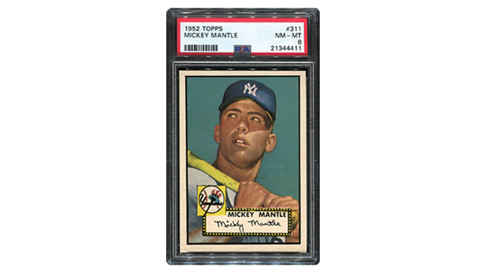 Thomas Newman's 1952 Mickey Mantle rookie card