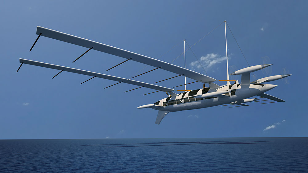 The Flying Yacht by Octuri is a vessel designed to act like a boat and an aircraft.