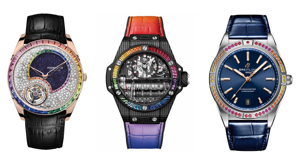 Parmigiani, Hublot and Breilting Rainbow Watches
