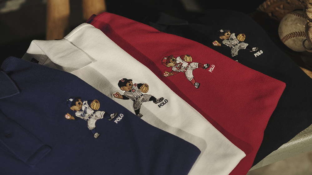 Ralph Lauren's Polo Bear polo shirts from the MLB collection