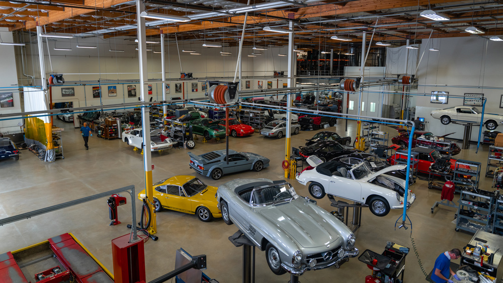 Canepa's automotive restoration facility in Scotts Valley, Calif.