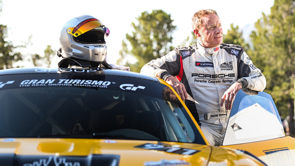 A promotional picture of racer David Donohue, who will be competing for BBI Autosport in the 2021 Pikes Peak International Hill Climb.