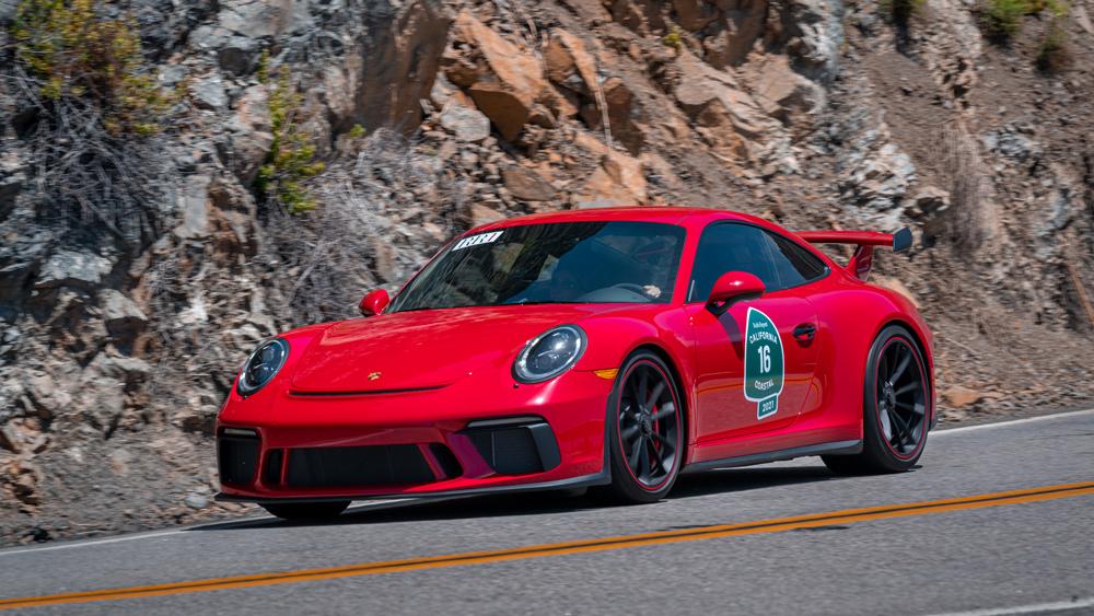 A 2018 Porsche 911 GT3.