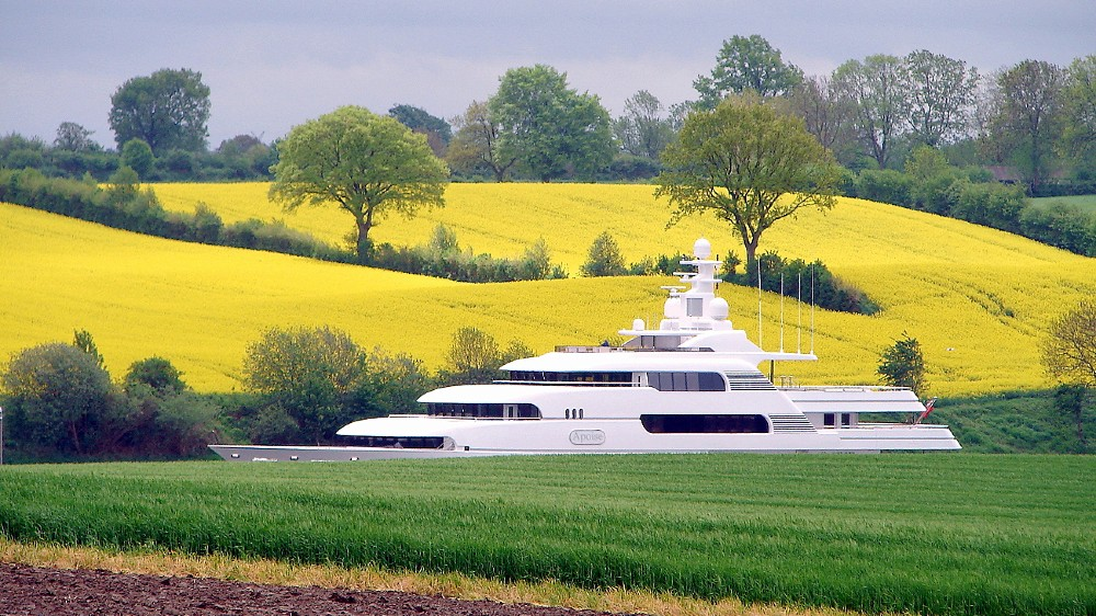 Superyachts must travel by canal, river and even road to be delivered to their owners.