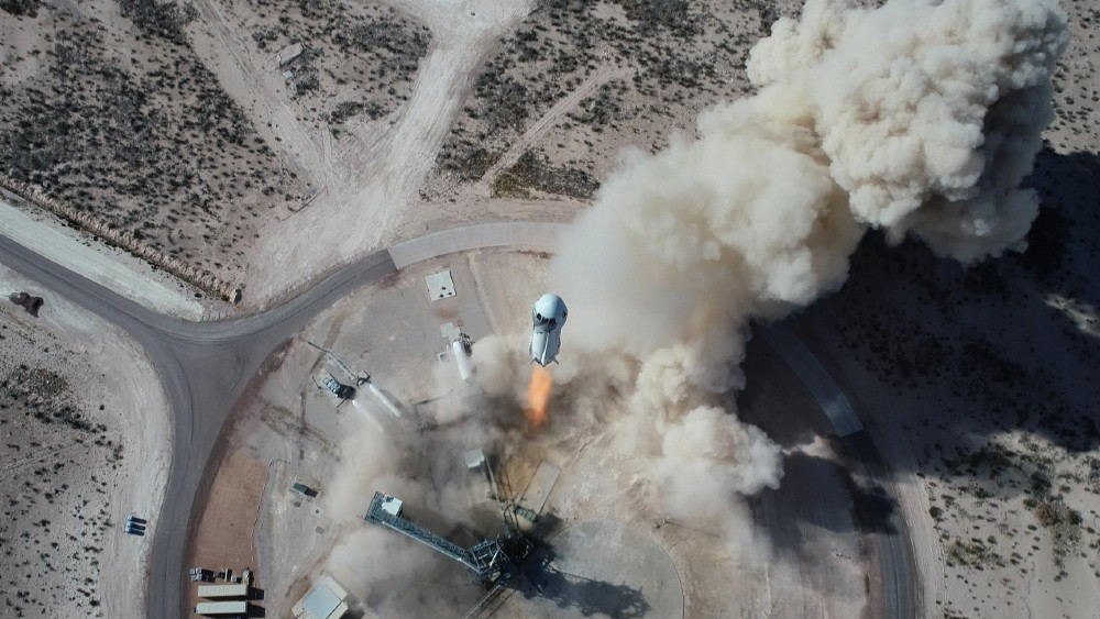While the July 20 date is the 52nd anniversary of the 1969 Apollo Moon Landing, the Blue Origin mission is loosely based around the flight of astronaut Alan Shepard, who became the first American in space on May 5, 1961. The New Shepard rocket, as the Blue Origin craft is called, will blast past the Karman line, the imaginary divider separating Earth from space. The tourist astronauts will then experience about three minutes of weightlessness, while floating around the capsule and seeing Earth from space. A third of the capsule is comprised of windows for visibility. After the flight, the capsule will descend back to Earth, with parachutes deploying for a landing in the Texas desert near the Blue Origin space center.