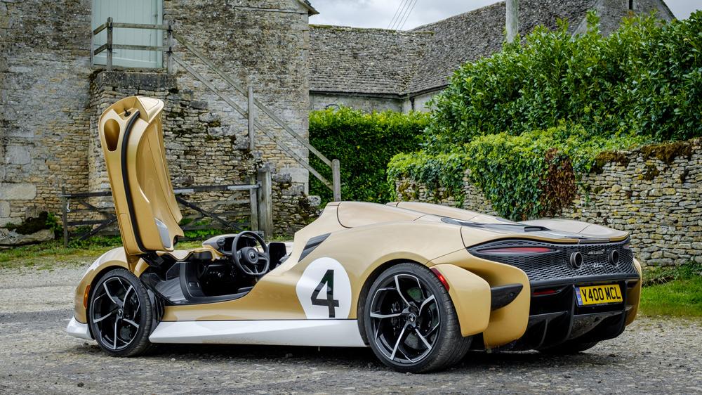 The McLaren Elva supercar in England.
