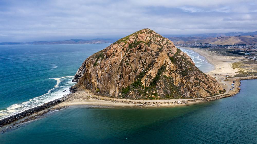 Morro Rock in Morro Bay, Calif.
