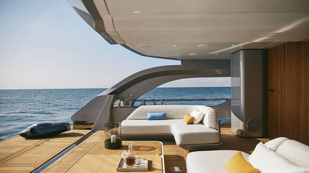 The Azimut Grande Trideck is the flagship for the Italian builder