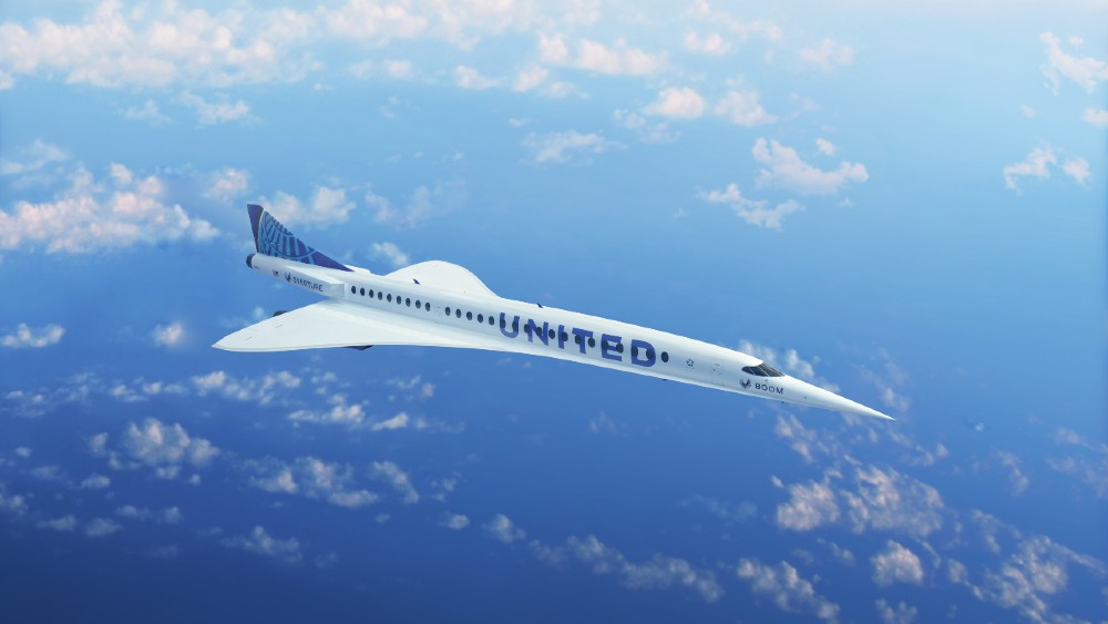 United Plans to Buy 15 Boom Supersonic Overture jets