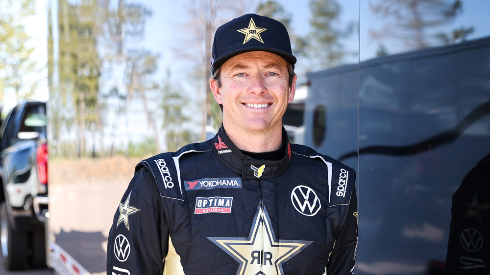 A promotional picture of racer Tanner Foust, who will be competing for BBI Autosport in the 2021 Pikes Peak International Hill Climb.