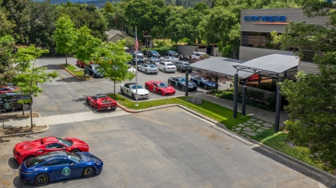 Road rally participants convene at Canepa in Scotts Valley, Calif.