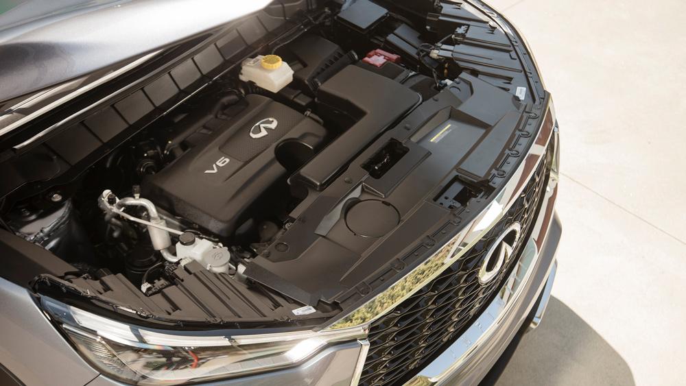 The 295 hp, 3.5-liter V-6 inside the 2022 Infiniti QX60.