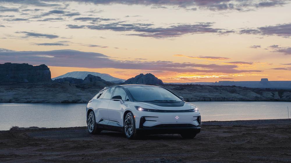 The 1,050 hp, all-electric Faraday Future FF 91.