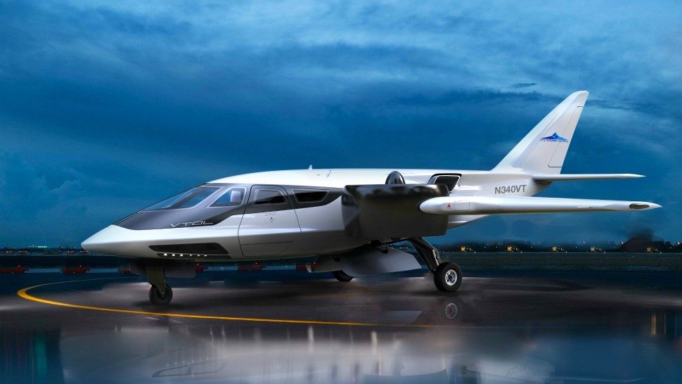 The XTI Trifan 600 is a new vertical takeoff and landing aircraft that uses hybrid technology